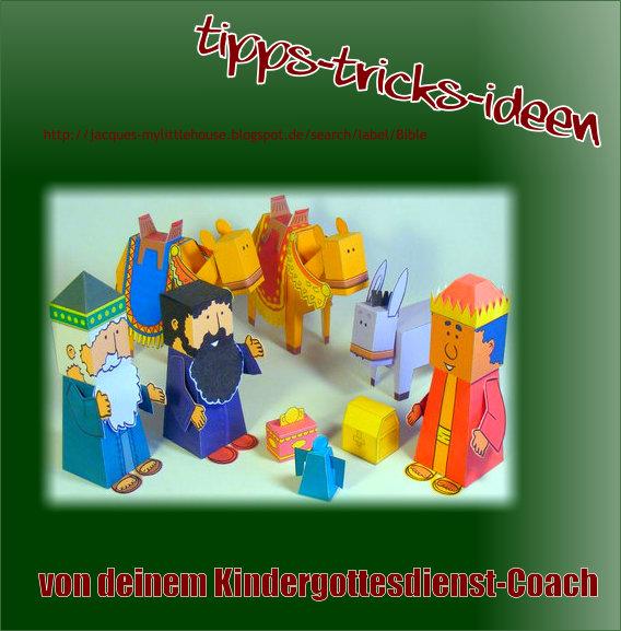 Faltfiguren für den Kindergottesdienst