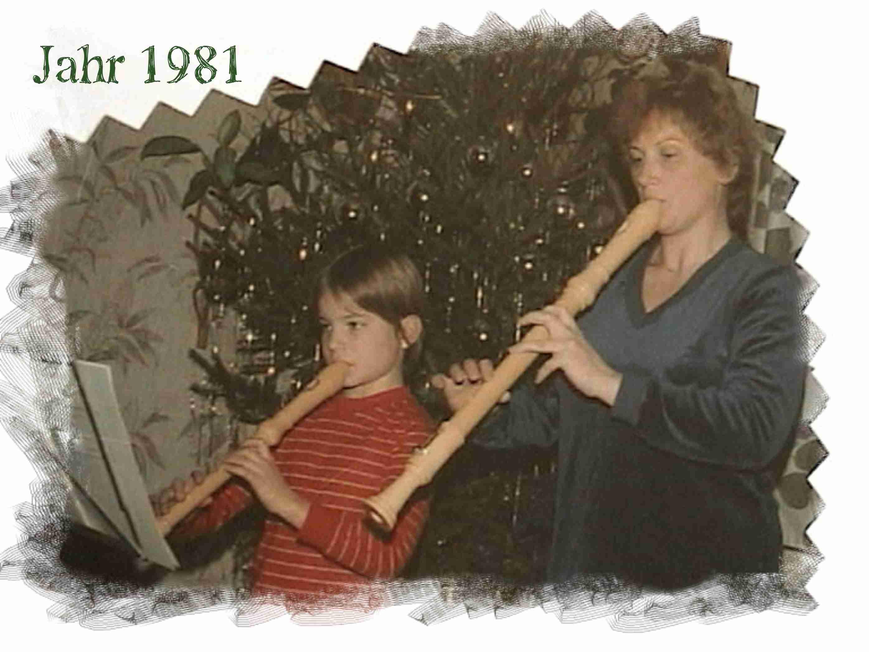 Flöten unterm Weihnachtsbaum