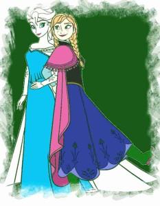 Elsa die Eiskönigin und Anna