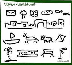 Sketchboard - biblische Objekte Geschichte erzählen