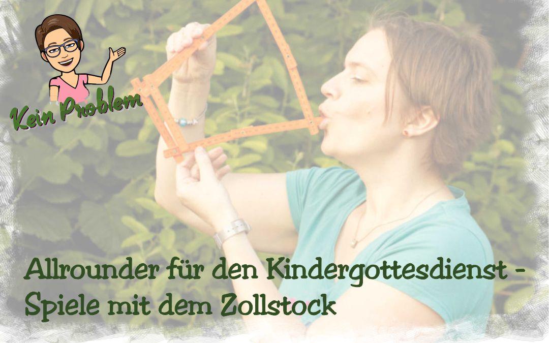 Allrounder für den Kindergottesdienst – Spiele mit dem Zollstock
