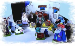 krippe Weihnachten basteln