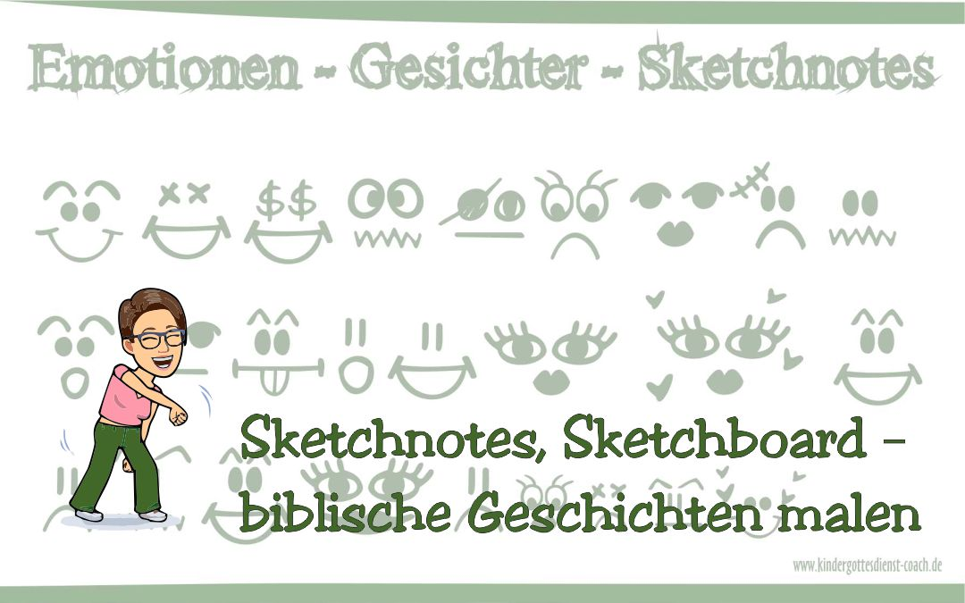 Sketchnotes, Sketchboard – biblische Geschichten malen